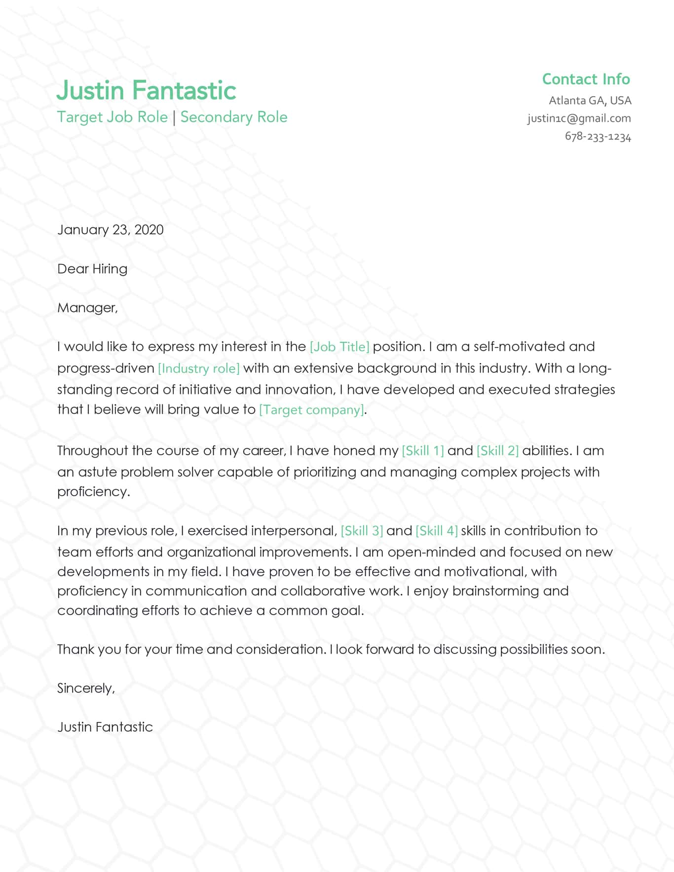 Cover Letter Example Job Application from jobee.io